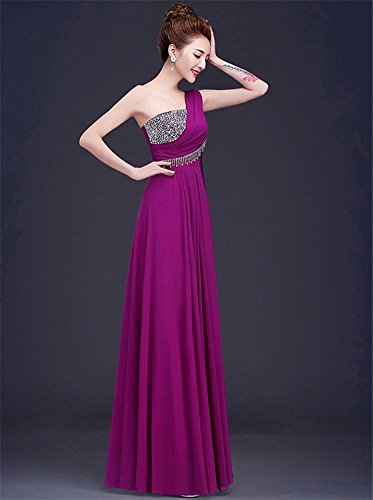 Drasawee Damen Empire Kleid Violett
