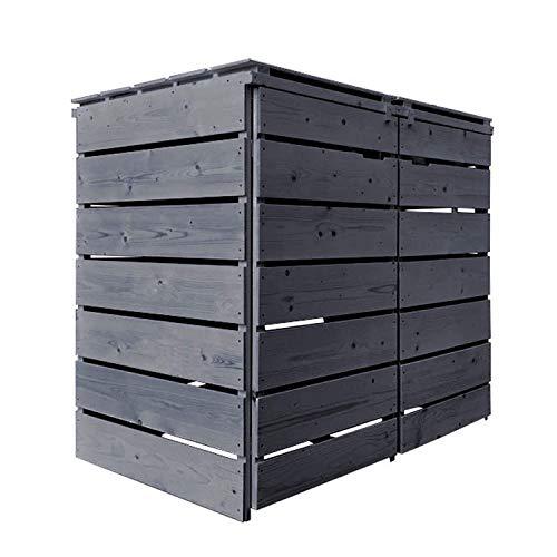 Mülltonnenbox (schwarz -