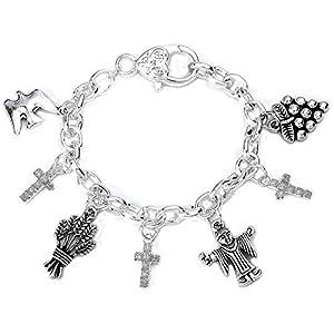 Armband Geschenk-Set für Mädchen, silbernes Armband für die Konfirmation/erste Kommunion
