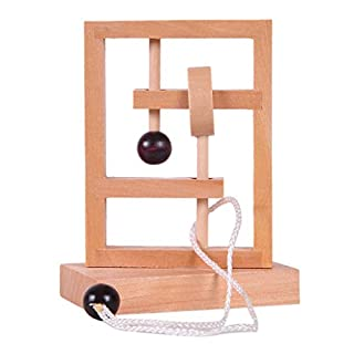 Cebbay Educational Toy,Wooden Shape Sorter Children's Educational Toys lock Luban Classical Wooden Educational Toys, Birthday for Toddlers