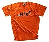 shirtzshop T-shirt Fistball Volleyball Ballon de handball Evolution, orange, S Boutique, SS Evo _ faustb de T