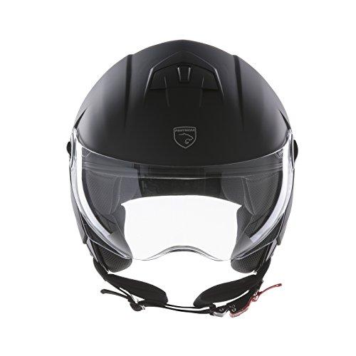 PANTHERA casco de moto half jet City negro mate talla M