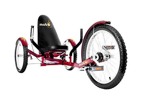 Mobo Triton Cruiser Pro Liegefahrrad Kinderdreirad - ROT - ab 12 Jahre bis Erwachsene
