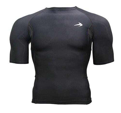 Mens-Shirt-Short-Sleeve-Top-Best-Running-T-Shirt-Basketball-Tee-CompressionZ
