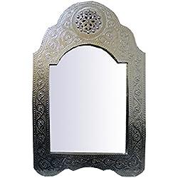 Saharashop Marrakech Accessoires–Espejo Plata pequeño 60x 40cm