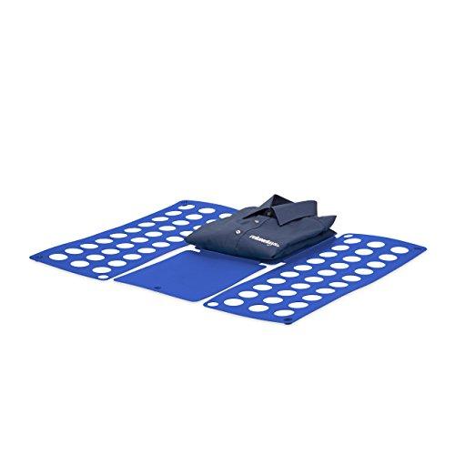 Relaxdays piega abiti 59 x 69 cm, blu asciugamani vestiti camicie pantaloni indumenti t-shirt polo facile da usare