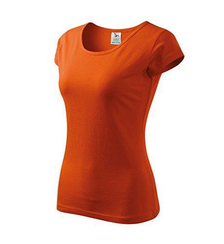 Dress-O-Mat Damen T-Shirt Shirt rundhals klassisch Tailliert Orange