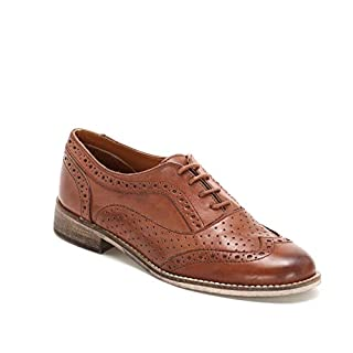 Marina Seval by Scarpe&Scarpe - Schnürschuhe mit Mikro-Ausstanzungen und Lochmuster, Flache Schuhe, Leder - 37,0, Leder