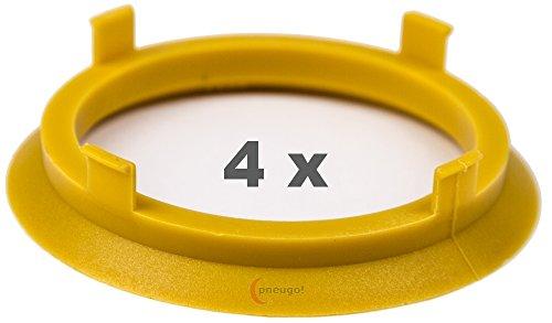 Preisvergleich Produktbild 4 x Zentrierringe 70.1 mm auf 60.1 mm gelb / yellow