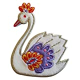 TrickyBoo 2 Ecussons Cygne 8X7Cm Dauphin 9X9Cm Patch Appliques thermocollant Brode...