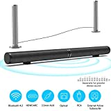 50W HiFi Detachable Wireless Bluetooth 3D Surround Stereo Subwoofer, 6 Speakers und 2 Bass Membranen, Supports RCA/AUX/Optionen/USB/Subwoofer,EU