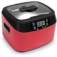 JIEHTT Máquina de Limpieza por ultrasonidos Temporizador Digital Profesional Limpiador de joyería de Cristales caseros Acero