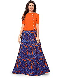 4e6cfd22ebc Drashti villa Women s Embroidered Semi Stitched Anarkali Gown (Free Size)