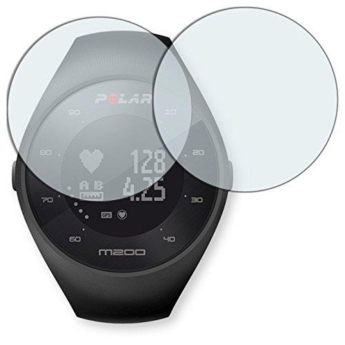 "2 x protectores pantalla Golebo para Polar M200. Lámina protectora adhesiva invisible ""Crystal Clear"". Fabricado en Alemania."