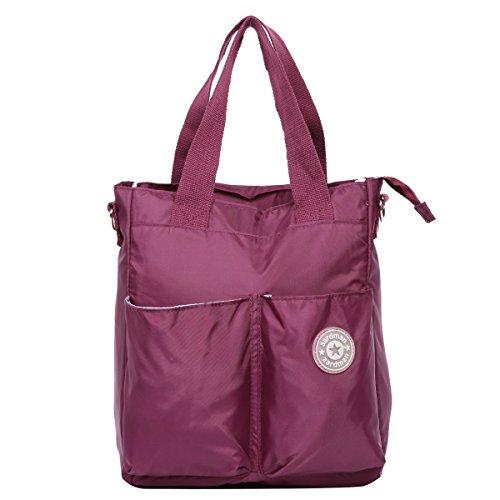 Preisvergleich Produktbild Eshow Nylon Wickeltasche Mummy Bag Mama Tasche Baby Handtasche Umhängetasche Multifunktional, Dunkellila
