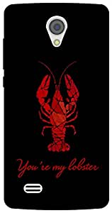 The Racoon Grip Black You're my Lobster hard plastic printed back case/cover for Vivo Y21