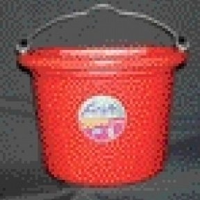 Artikelbild: Fortiflex Flat Back Feed Bucket for Dogs/Cats and Small Animals, 8-Quart, Red by Fortiflex