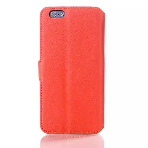 """inShang iPhone6 Coque 4.7"""" Housse de Protection Etui pour Apple iPhone 6 4.7 Inch, le style Folio cuir PU de premiere qualite, + Qualite Pens Haute Stylet capacitif soft Orange"""