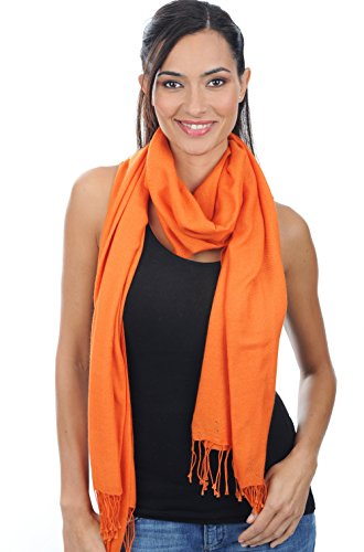 Pashmina cachemire Orange