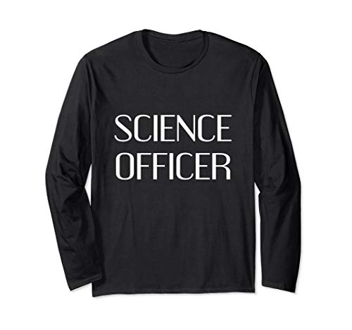 Science-Officer Sci Fi Lazy Halloween-Kostüm lustig Langarmshirt