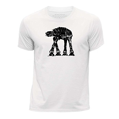 12-14 (152-164cm)/Weiß/Rundhals T-Shirt/Imperial Walker AT-AT ()