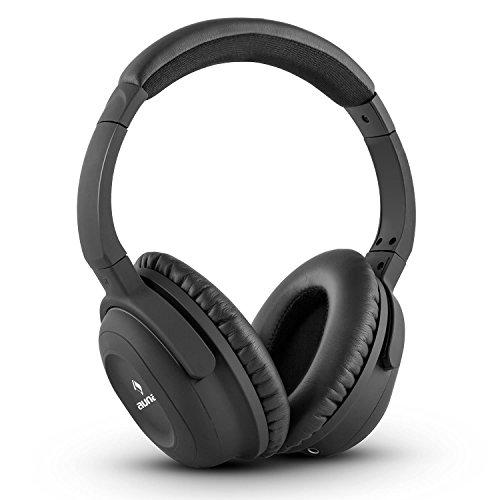 auna ANC-10 - Noise Cancelling Kopfhörer, Headphones, 85% Geräuschabschirmung, größenverstellbar, Transport-Hardcase, Adapter, Audiokabel, für iPhone, iPad, Tablets, Computer, TV, schwarz