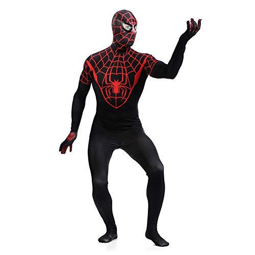 SEJNGF Lycra Spandex Spiderman Body Strumpfhosen Digitaldruck Halloween Erwachsene Rolle Performance Kleidung Cosplay Anzug (Kopfbedeckung Kann Nicht Getrennt Werden),BlackRed-XXL