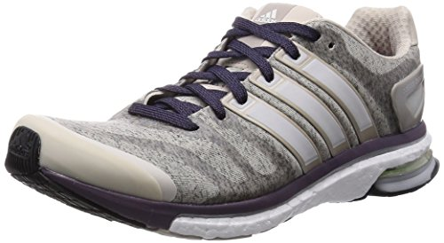 adidas Adistar Boost Heather, Damen Trainieren/Laufen, Multicolor (Clear Brown/Ftwr White/Ash Purple), 38 EU