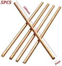 Generic 5Pcs Diameter 3Mm Pure Copper Cu Metal Solid Rod Length 100Mm