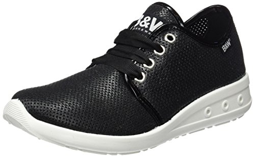 Break&Walk - Hv214326, Scarpe sportive Donna Nero (Black)