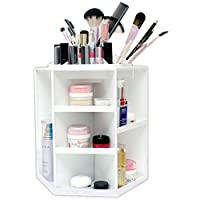 Spinning Makeup Organizer – 360 Rotating Cosmetic Storage Box, Plastic