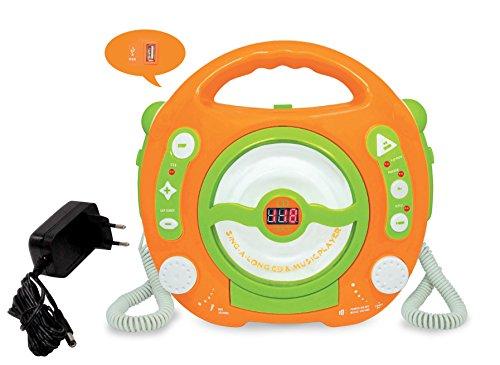 Kinder CD Player MP3 Player 2 Karaoke Mikrophone USB Port + Netzteil