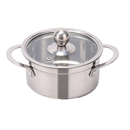 XICHENGSHIDAI Spessore Acciaio pentola pentolino Hot Pot per Le Persone Sole Coreano ad Angolo retto pentola a induzione fornello Disponibile, 17cm