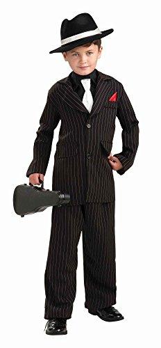 Kinder-Kostüm Little Gangster - Kleiner Mafioso Mafiosi Mafiaboss Jungen, Größe:140 - 8 bis 10 - Teenager Gangster Kostüm