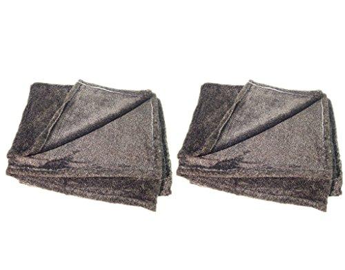Meubletmoi Lot de 2 Plaids Haute qualité - Couverture Douceur Intense - Gris foncé - Siberia