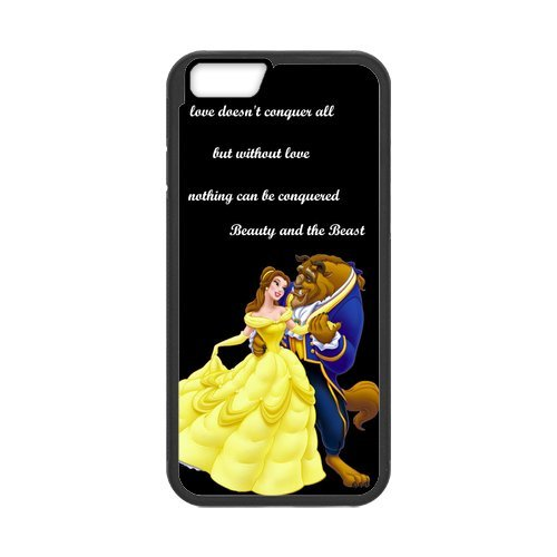 Everlasting Fashion Hard Cover Case PC and TPU Phone Cover For Your Iphone 6 of Beauty And The Beast