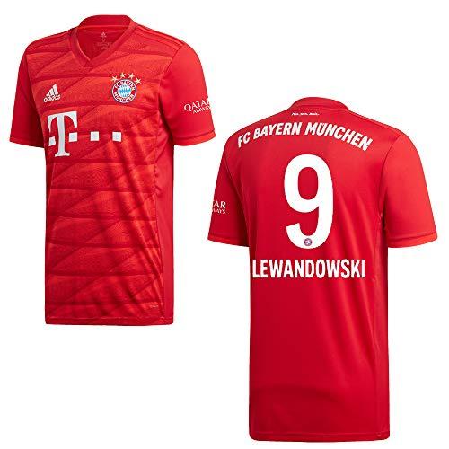 adidas Bayern Trikot Home Herren 2020 - Lewandowski 9, Größe:L