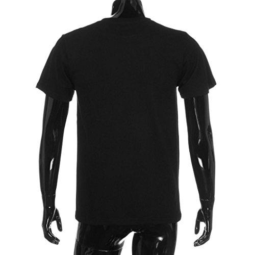 """OverDose Parentage Kleidung Familie Suiten """"CTRL+C """"/""""CTRL+V"""" Rundhalsausschnitt Letter Printing Blusen Tops T-Shirt Daddy-Schwarz"""