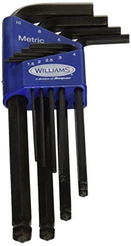 SnapOn 13609JH Williams Metrisches Long Ball End Hex Key Set, 9Stück - Ball-end Hex Set