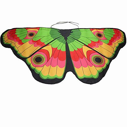 ling Flügel Kostüm Nymphe Pixie Umhang Faschingkostüme Schals Poncho Kostümzubehör Zubehör (Grün) ()