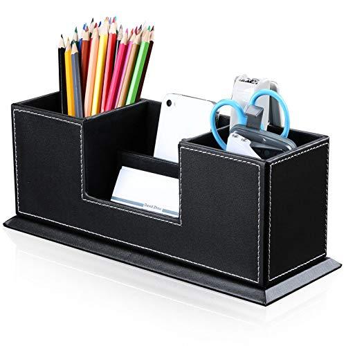 PU-Leder Stift-Organizer Stifthalter Für Schreibtisch-Bürostifthalter ()