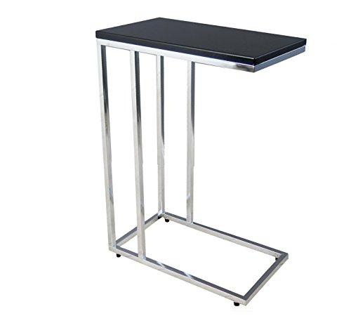 Aspect Bellini Sofa - Mesa Auxiliar para Ordenador portátil, Madera, Color Negro, 46 x 25,5 x 63,5 cm
