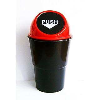 Anik-Shop MÜLLEIMER Mini für Auto Push-Deckel Tischabfalleimer Abfalleimer Mülltonne 03 (Rot)
