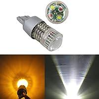 WLJH 2pcs luz muy clara 1000 lumens 40 W xb-d5 chipsets 7740 7443 W21 W T20 LED bombillas Auto Exterior Color Blanco Ámbar Switchback Gire Luz de señal LED de aluminio Lente del proyector