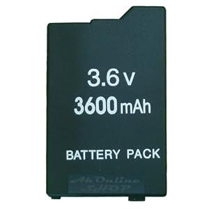 aktrend – PSP Slim&Lite Akku Battery 3600MAH für 1.Generation Battery Pack Li-Ion 3.6 V 3600 mAh für PSP Slim&Lite Classic 2000 & 2004 PSP-3000 PSP-3004 PSP2000 PSP3004