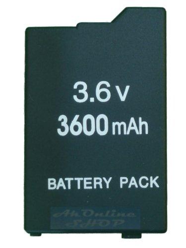 aktrend - PSP Slim&Lite Akku 3600MAH Battery Pack Li-Ion 3.6 V 3600 mAh für PSP Slim&Lite Classic 2000 & 2004 PSP-2000 PSP-2004 PSP3000 PSP3004 Portable Akku-packs