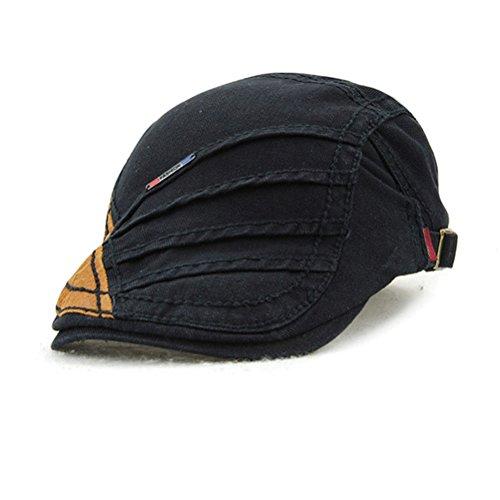 GADIEMENSS Acrylic Hat Fashion Cap Men Summer Breathable Stripe Retro Style (Size:56-60cm)