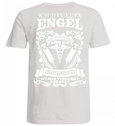 Hochwertiges Übergrößenshirt - Altenpflege Shirt · Geschenk Für Pflegekräfte · Spruch: Altenpflegerin Kein Engel