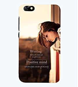 Printvisa Premium Back Cover Girl With A Positive Quote Design For Huawei Honor 4X::Huawei Glory Play 4X