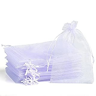 Organza Gift Bags 120 pcs 10x15cm, Amison Wedding Favour Bags Party Gift Wrap Bags Candy Bag Jewelry Pouch with Drawstring